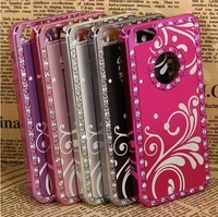 Free shipping For iPhone 5 5G Aluminum Metal Chrome Hard Case Cover+ Screen Protector + Pen