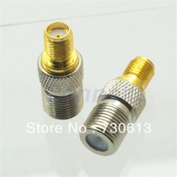 F female jack to SMA female jack center RF coaxial adapter connector