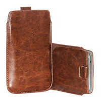 10 x Wallytech Soft PU Leather Pull TAB Slip Pouch Case Cover For Samsung Galaxy S3 I9300 Pull Leather Case (WSA-056)