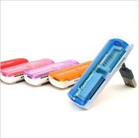 100pcs Multifunction USB Memory Card Reader,All in 1,TF/SD/M2/MS card reader DHL FEDEX free shipping
