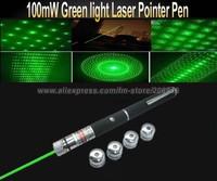 100mw Laser pen pointer 5 patterns 5 in 1 green laser pointer pen laser kaleidoscope