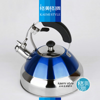 Stainless steel kettle spirant pot whistling kettle anti-hot pot electromagnetic furnace whistle pot 3l