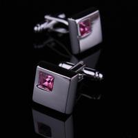 BigBaBa Pink crystal French - male cufflinks shirt sleeve nail sleeve  CL