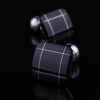 BigBaBa - black agate white shell French - shirt sleeve male black cufflinks nail sleeve  CL