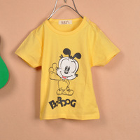 Mickey MOUSE cartoon children t-shirt children's clothing cotton short-sleeve 100% ploughboys short-sleeve summer short-sleeve