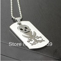 Designer stainless steel jewelry High Quality 2013, Fahional Cute Personality Punk Skull Necklace  ,KY102