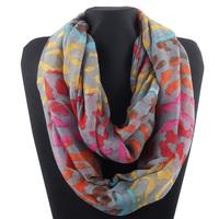 Newest Fashion Women`s Colorful Cotton Infinity Scarf   Scarves Shawl 180x110cm Colors Colorful Leopard grain