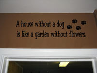 wall art quotes vinyl HOUSE DOG GARDEN FLOWERS religion stickers home decor On Wall Decal Sticker Vinyl Wall Room Decal