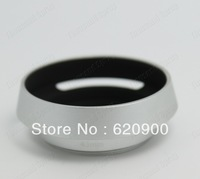 100% GUARANTEE  silver lens hood 40.5mm Metal Vented Lens Hood for Lens with 40.5mm Filter Thread