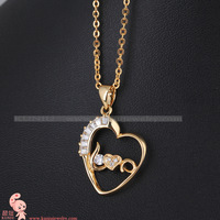D0017 18k gold necklace love pendant birthday present for girlfriend gifts girls free shipping by CPAM