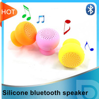 New silicone waterproof mini bluetooth speaker silicone adsorb on glass and car window, smart phone as strand, free shipping