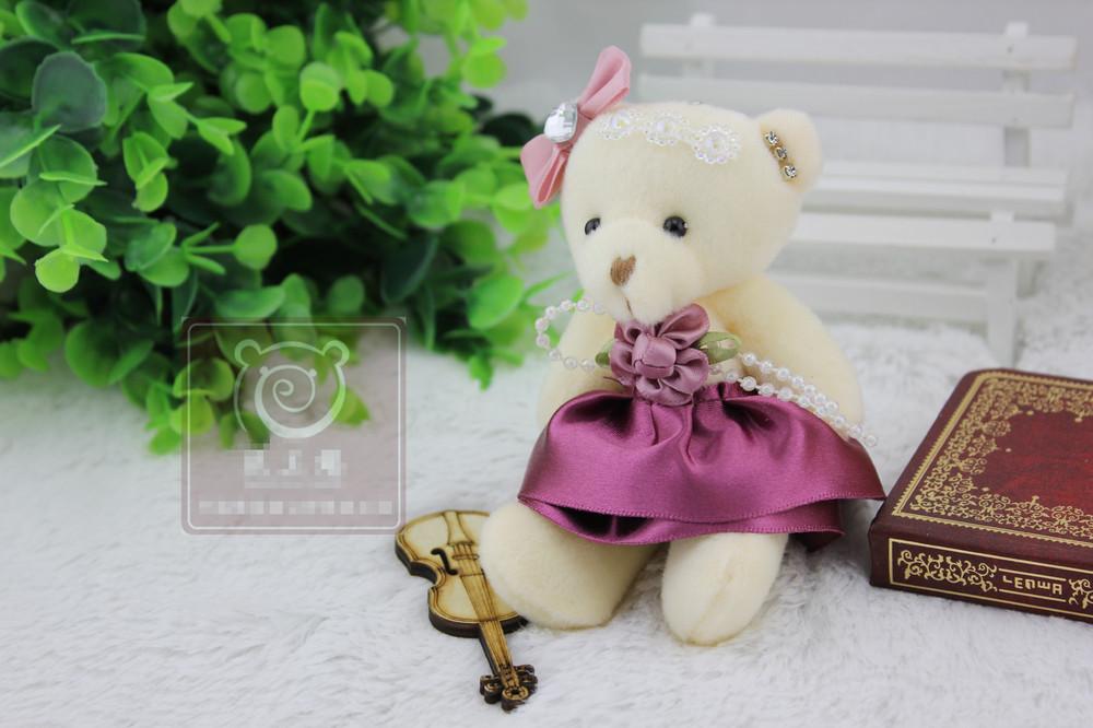 Wholesale Super Likable Wedding Toy Diamond Bear 12-13CM Cute Small Bear Kawaii Toy Christmas Gift/Birthday Gift Free Shipping(China (Mainland))