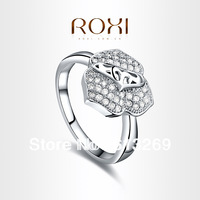 ROXI brand Fashion Flowers Cubic Zirconia crystal Ring,white gold ring,gifts for women, fashion jewelry for women,101002474