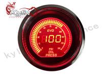 "KYLIN  - 52mm 2"" Car Meter EVO Digital Oil Pressure Gauges + Oil Press Sensor Dimmable Red / Blue LCD"