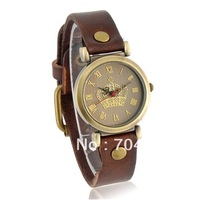 2013 new fashion Women's Round Dail Analog Watch with PU Leather Strap