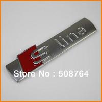 Free shipping Wholesale 10pcs/lot ABS S line 3D Chrome Emblems For Audi Car Badges car Stickers