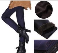 Seamless Denim Leggings increase plus thick velvet warm winter boots women and girl warm  pants were thin Leggings