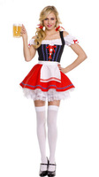 New German Oktoberfest Fancy Dress Adult Beer Maid Wench Fantasy Halloween Costume Outfit
