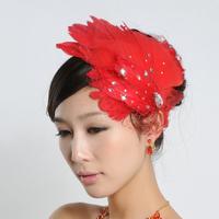 Dream bride hair headband fashion  feather hair 8 color