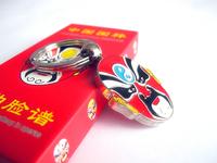 Peking Opera Mask Style Keychain Chinese Folk Fashion Souvenir Business Gifts