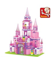 Sluban blocks pink dream fantasy palace 271pcs/set M38-B0153 Children's enlightenment educational assembly building blocks toys