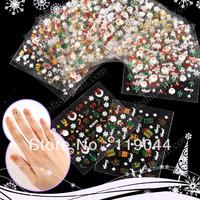 Free shipping 25 Different Styles Christmas Nail Sticker Nail Xmas Decals Nail Art Decoration NA486