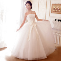 New arrival 2013 bride wedding elegant sweet princess wedding dress tube top type fluffy wedding dress formal dress