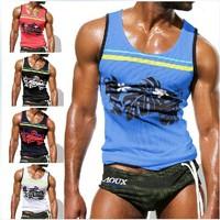 any 1pcs mens tank top men vest shirt clothing AQUX brand Active sport sexy designer chest binder tshirt cheap sleeveless hoodie
