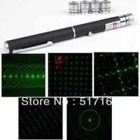 5 in 1 532nm 5MW Green Laser Pointer Laser Pen Light Beam Five Head