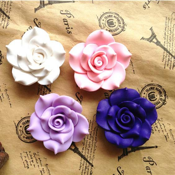 Min.$15(Mixed Order) Free Shipping Cell Phone Case Decoration Colour Resin Rose Flower(China (Mainland))