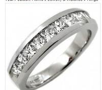 100% new 14K MENS 1.20CT PRINCESS WEDDING RING BAND VS F