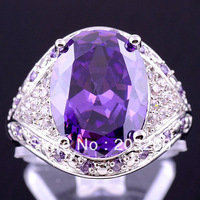 Designers Factory Price FREE SHIPPING Hot Sell Magnificent Amethyst Size 10 Fashion Jewelry  Silver Ring women Christmas BJR484