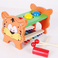 Toy 2 - 4 years old knock piano 2 play station tiger music toy musical instrument