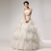 Fashion princess sweet tube top new arrival luxury 2013 fluffy wedding dress