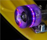 Free Shipping Hot!!! Flash Led Light Skateboard Wheel LED Penny Skateboard Wheels