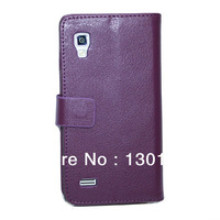 For LG Optimus L9 P760 Multicolor  Flip  Wallet Leather Case Cover Holster Shell Card Slot Holder 10 Pcs