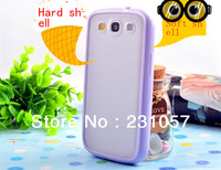 3piece/lot Transparent Skin Clear Shell TPU Case for Samsung Galaxy S3/i9300/i9308/ fee shipping