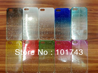 Free shipping luxury crystal hard cover for iphone 5 5s case fashion waterdrop back housing 1 piece