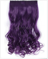 "24"" long 5 Clip in Hair Extensions Synthetic Hair extension women hair  Accessories Color Purple Free Shipping"