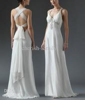 Wedding Dress All Size Beach lady Celebrity Dresses Shoulder strap Ivory white lady