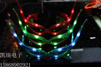 0081 horn led glasses christmas party mask glasses led glasses flashing glasses