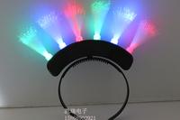 New arrival 1213 dry flash headband glow fiber hair accessory ball decoration props