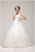 2013 one shoulder organza princess puff skirt slim waist