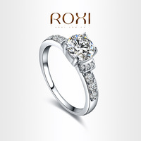 ROXI Exquisite Big Clear Crystal Ring,Platinum Plated with AAA Zircon,fashion Environmental Micro-Inserted Jewelry,101011324