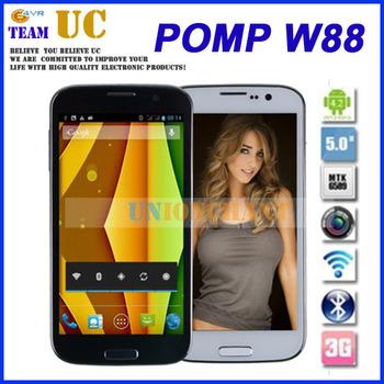 "Original POMP W88   5.0"" HD Screen 1.2Ghz Quad Cores MTK6589 3G Smart phone POMP_king4 W88"