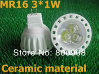 DHL free shipping High quality 3W Ceramic MR16 led Spotlight