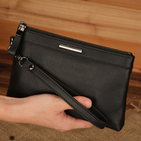 Hot sale 100% Genuine leather day clutch for men fashion male business man day clutch bag wallet purse