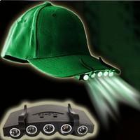 Clip-On 5 LED Fishing Camping Head Light Head Lamp LED Cap light camp light