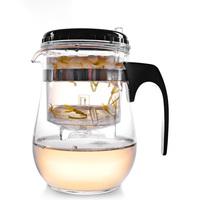 Flower tea teapot elegant cup unpick and wash teapot filter glass tea set