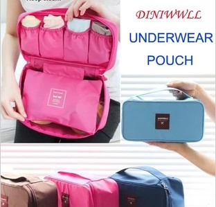 2014 New arrived Travel Waterproof nylon Storage Organizer bag Underwears Socks Storage Bag Organizer Free Shipping(China (Mainland))